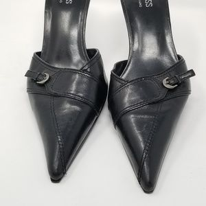 Guess by Marciano Shoes - GUESS BY MARCIANO Kitten Heel Pointed Toe Mules